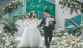 楠方礼.草坪婚礼白绿色系