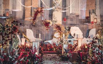 新中式风主舞台吊顶礼堂婚礼