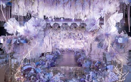 麦瑞婚礼|蓝紫色浪漫公主风婚礼