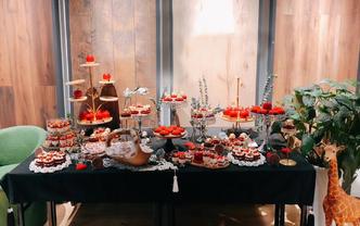 【金猪纳福红色系甜品台】166甜品+咨询享优惠