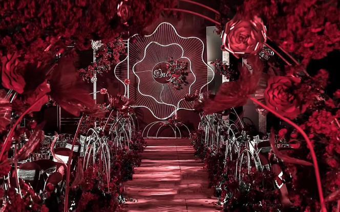 高贵典雅的红色浪漫婚礼 Only