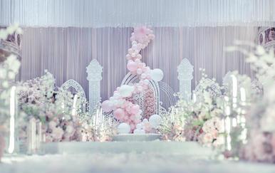 【名人私人订制】粉白色梦幻婚礼
