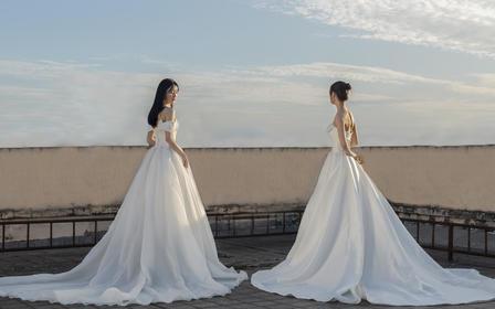 【超值全包7件套】高品质缎面婚纱套餐