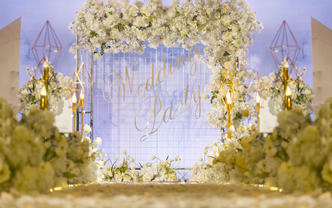 #低层高清新婚礼#金海酒楼香槟色婚礼