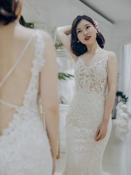 【十二小姐】ENZOANI大牌婚纱全包7件套