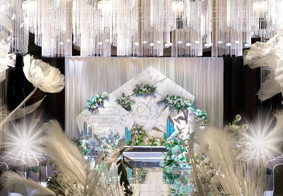 清新风格婚礼首选 白绿色系 花艺设计效果满分