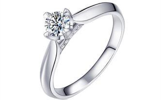 钻石海洋—知心—50分四爪浪漫求婚结婚钻戒