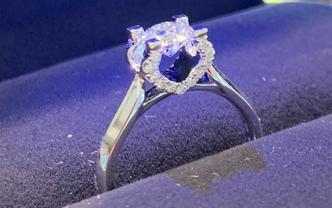 18k金钻石戒指gia证书