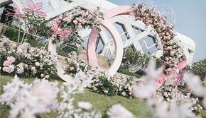 蔷薇婚礼|粉色系清新甜美户外草坪婚礼