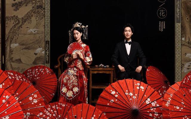 中式艺术精致龙凤褂 古风高定感