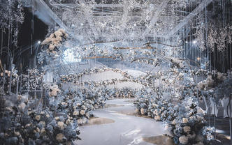【ART艺术婚礼】2019年度爆款雾霾蓝婚礼