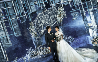 杭州Sunny喜铺婚礼策划蓝色几何【繁花似锦】