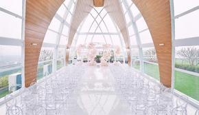 【朗豪】大气玻璃房 接亲套餐  100人小型婚礼