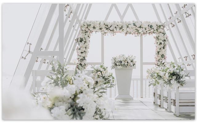 小预算「水晶礼堂」海边婚礼