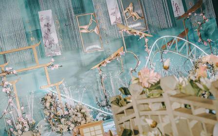 典雅新中式婚礼——莫兰蒂绿心湖