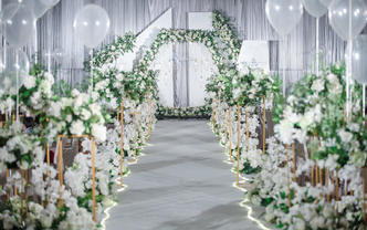 【超值特价含四大】清新唯美婚礼-见证爱情