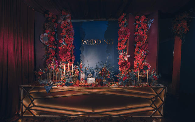 【喜上婚礼】满屏的高级红蓝撞色婚礼