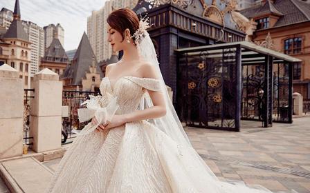 新品婚纱独立设计师品牌仪式纱