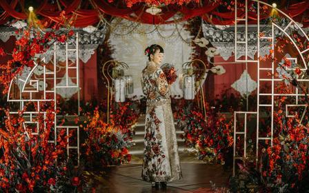 中式婚礼纯手工优雅秀禾服