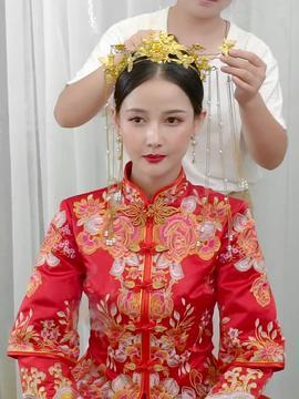 秀禾服新娘中式婚纱礼服结婚嫁衣敬酒服2019新款