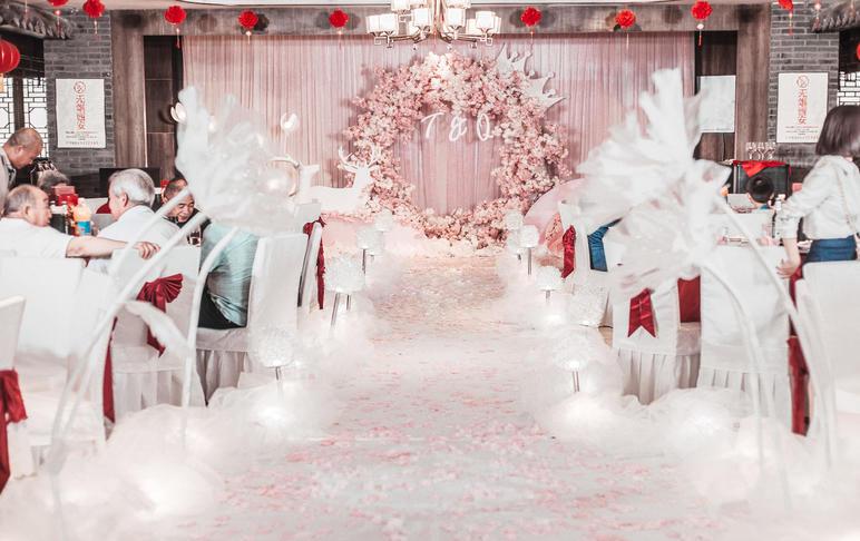 【时光印迹】实惠性价比超高/粉色浪漫婚礼