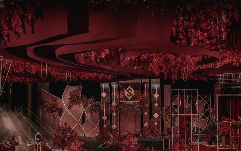 【艾特婚礼】奢华大红色几何元素| 心随乐动