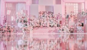 【520限定】梦幻舞台+镜面装饰+粉色花艺