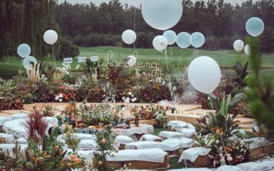 户外草坪婚礼   美式花园派对