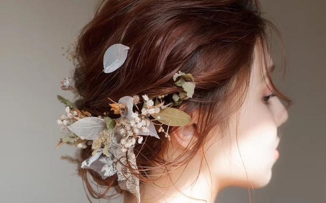 日系抽丝鲜花造型+妈妈妆+伴娘妆