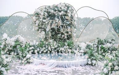 """#吉美婚礼#白绿色色小清新户外婚礼""""时礼"""""""