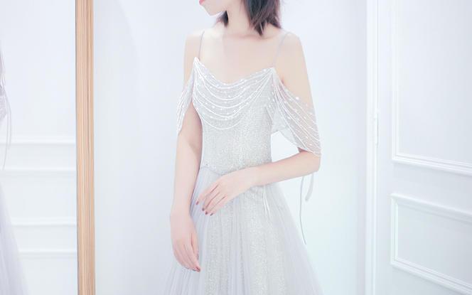 【品位婚纱】小清新优雅礼服新娘敬酒服