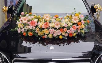 丽江野子花艺999系列婚车装饰及新娘手捧花