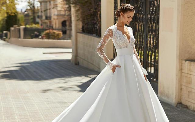 rosa西班牙国际品牌20年新款气质新娘不二之选