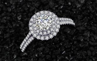伊珂星钻石 18K金钻石求婚戒指之【星河】
