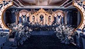【阿兰高端婚礼定制】深蓝欧式城堡风个性化布置