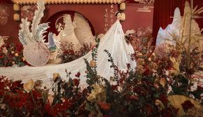 【花堂喜事】—中式婚礼|高质感低饱和度故宫红