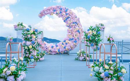 天空之境海边沙滩草坪海岛婚礼