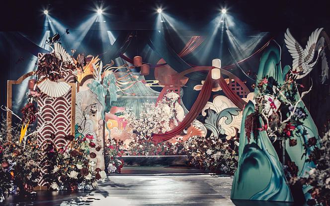 【伯妮】华丽撞色 创意满分 浮世绘风新中式婚礼