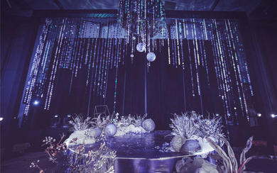 空间层次感设计紫色高雅婚礼
