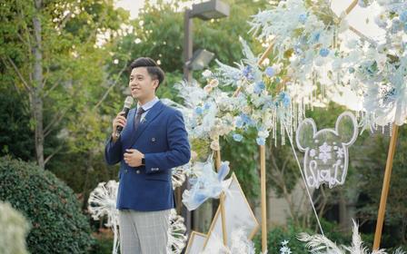 【草坪婚礼+下雨不收费】主持人泽涛+三人执行团