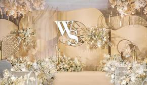 【LUSHAN 麓山婚品】超有设计感的香槟系婚礼