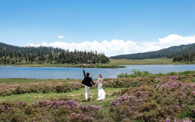 香格里拉旅拍婚纱照 纯拍摄套餐 底片全送 无产品