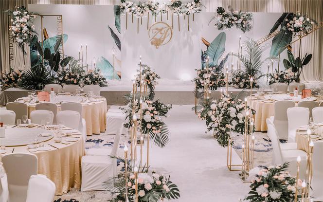 【小预算】白绿色小清新婚礼,婚纱免租