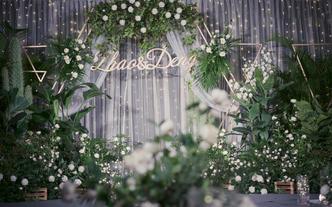 【蕊结婚礼】森系白绿色小清新婚礼简约静谧小型婚礼