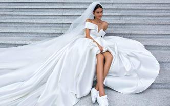 盒子礼服全球品牌婚纱3件套+JC水晶婚鞋+伴娘服