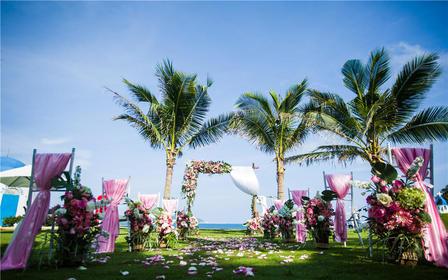 私人个性定制教堂酒店海边沙滩草坪创意婚礼