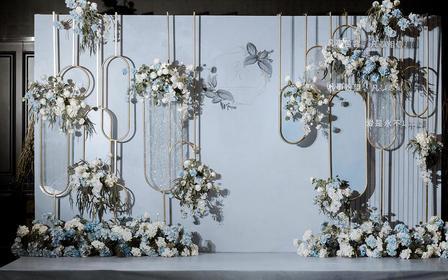 小型婚礼之选,小清新雾霾蓝婚礼
