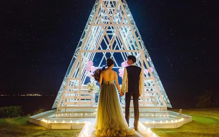 【求婚策划】三亚海边求婚浪漫布置[告白气球]