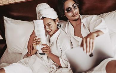爱旅拍巴厘岛•原创作品•皇家花园别墅浴袍写真