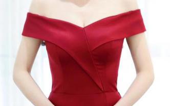 明星同款高端红色鱼尾礼服